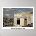 Casas en Nápoles de Thomas Jones Poster