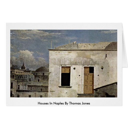 Casas en Nápoles de Thomas Jones Tarjeta