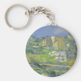 Casas en Provence por Cezanne, bella arte del Llavero Redondo Tipo Pin