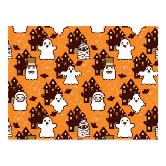 Casas encantadas de Halloween Postales
