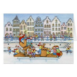 Casas holandesas del patín grande - tarjeta de fel