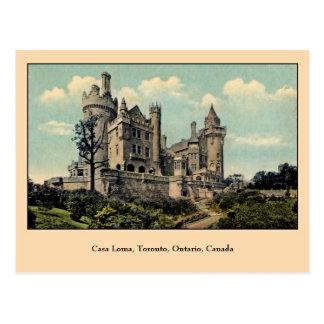 Casas Loma, Toronto, Canadá del vintage Tarjetas Postales