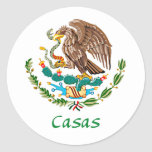 Casas Mexican National Seal Stickers