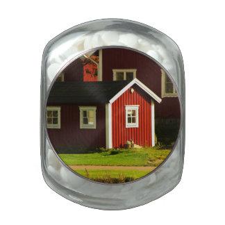 Casas rojas en Suecia Frascos De Cristal Jelly Belly