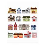 Casas simples tarjeta postal