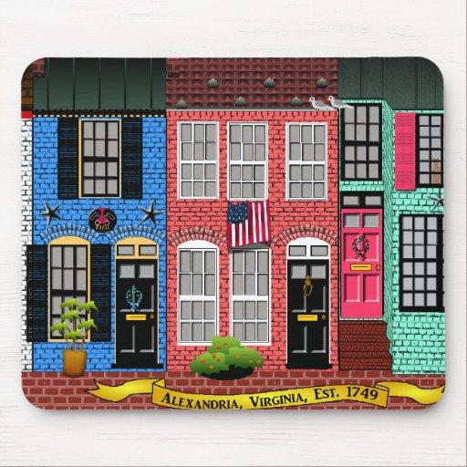 Casas urbanas de Alexandría, Virginia Tapete De Ratones