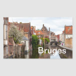 Casas viejas en Brujas, Bélgica Rectangular Altavoz