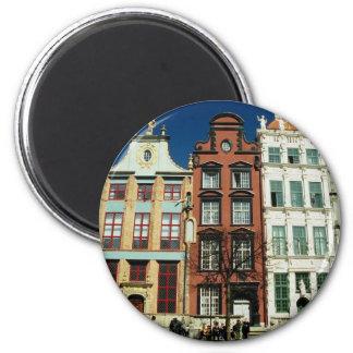 Casas viejas en Gdansk Imán Para Frigorífico