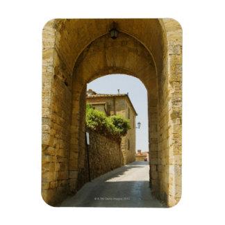 Casas vistas a través de una arcada, Porta Franca, Imán De Vinilo