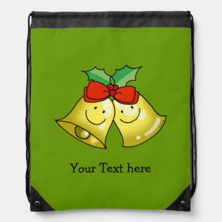 Cascabeles de las Felices Navidad - personalizados Mochilas