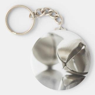 Cascabeles de plata llavero redondo tipo pin