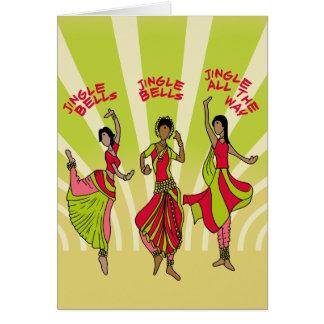 Cascabeles del baile tarjeta de felicitación