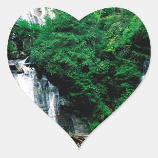 Cascada Ana Chattahoochee de rubíes Georgia Pegatina En Forma De Corazón