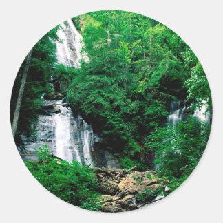 Cascada Ana Chattahoochee de rubíes Georgia Pegatina Redonda