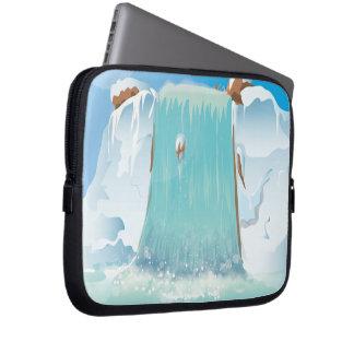 Cascada ártica del hielo manga computadora