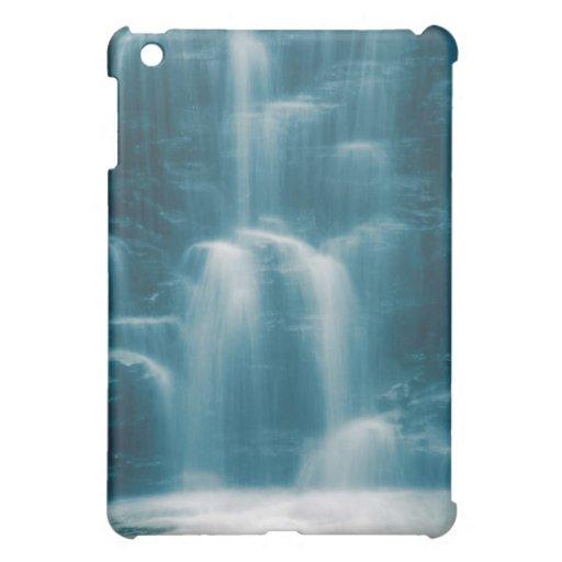Cascada azul abstracta