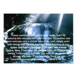 Cascada azul invitaciones personalizada