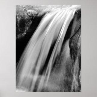 Cascada, blanco y negro poster