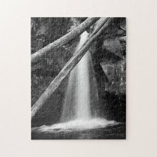 Cascada blanco y negro rompecabezas con fotos