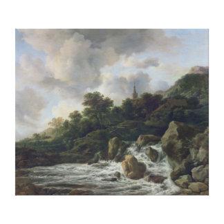 Cascada cerca de un pueblo, c.1665-70 lona estirada galerías