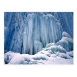 Cascada congelada Haute Jurs, Francia Postales