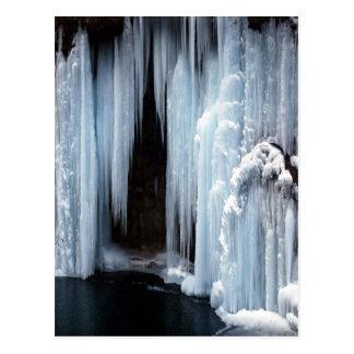 Cascada congelada tarjetas postales