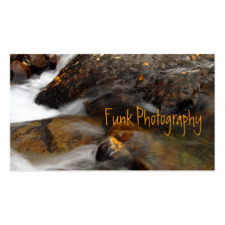 Cascada de Alaska del otoño del AAW Plantilla De Tarjeta Personal