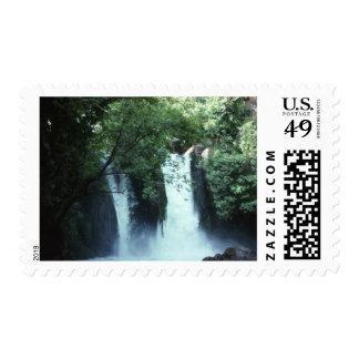 Cascada de Banias, Israel Timbre Postal