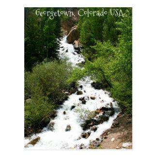 Cascada de Colorado Tarjeta Postal