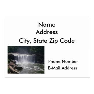 Cascada de conexión en cascada tarjeta de visita