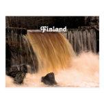 Cascada de Finlandia Tarjeta Postal