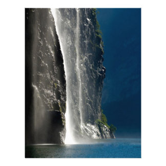 Cascada de Geirangerfjord, Noruega Membretes Personalizados