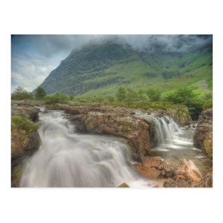 Cascada de Glencoe Tarjetas Postales