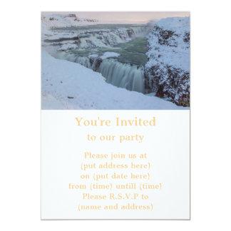 """Cascada de Gullfoss en Islandia Invitación 5"""" X 7"""""""