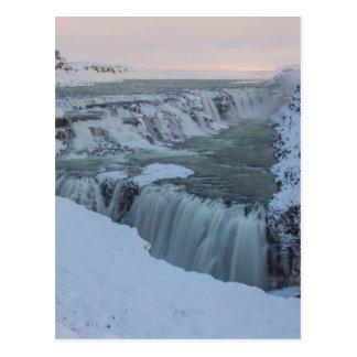 Cascada de Gullfoss en Islandia Tarjetas Postales