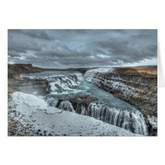 Cascada de Gullfoss, Islandia Tarjeta De Felicitación