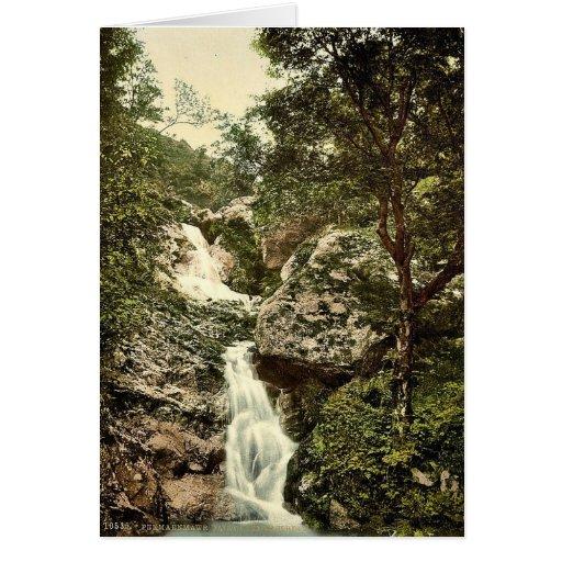 Cascada de hadas de la cañada, Penmaenmawr, País d Felicitación