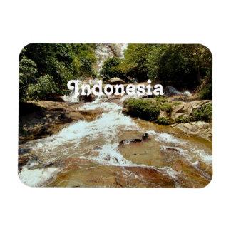 Cascada de Indonesia Imán De Vinilo