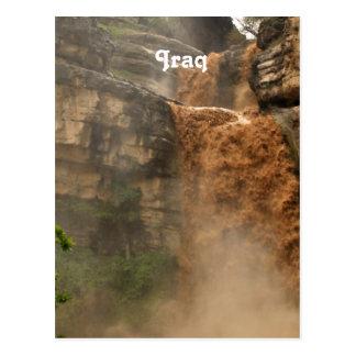 Cascada de Iraq Tarjeta Postal