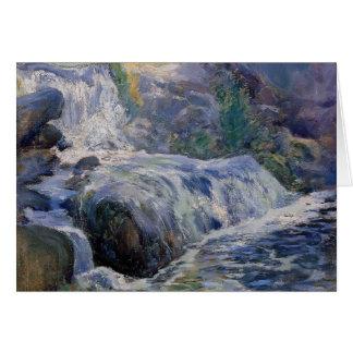 Cascada de John Henry Twachtman- Tarjeta De Felicitación