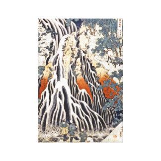Cascada de Kirifuri en el soporte Kurokami en Impresion En Lona