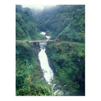 Cascada de la carretera de Hana Tarjeta Postal