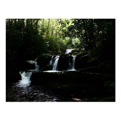 Cascada de la cascada en Tremont - montañas Postales