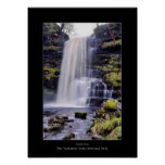 Cascada de la fuerza de Uldale, poster de Cumbria
