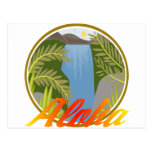 Cascada de la hawaiana tarjeta postal