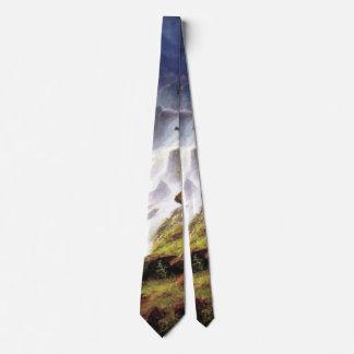 Cascada de la montaña rocosa - Albert Bierstadt Corbatas