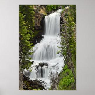 Cascada de la ondina - impresión de Yellowstone Póster