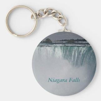 Cascada de Niagara Falls Llavero Redondo Tipo Pin