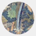 Cascada de Roben en Oyama por Katsushika, Hokusai Pegatinas