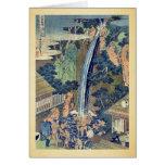 Cascada de Roben en Oyama por Katsushika, Hokusai Felicitación
